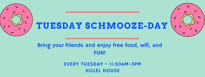 Tuesday Schmooze-day